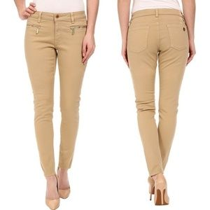 Michael Kors | Zipper Skinny Jeans in Khaki